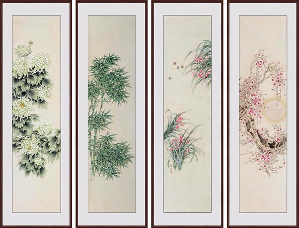 易从网工笔画-居家客厅挂什么画 17年最受欢迎的客厅花鸟画 组图