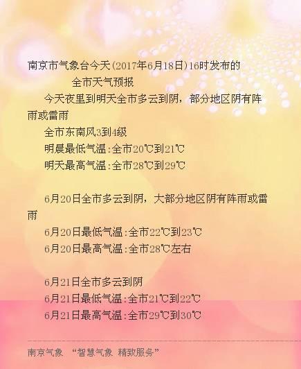 来源:南京气象、江苏气象-梅姑娘 虽还未到,本周南京局部却有雷雨