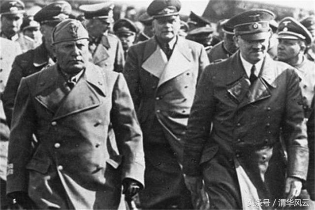 """二战史:法西斯步步紧逼,""""患难见真情""""希特勒和墨索里尼"""