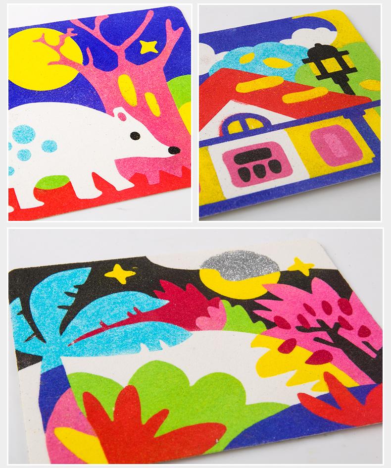 开团|| 美乐儿童沙画套装彩砂梦幻主题礼盒,diy手工制作 环保 创意 彩