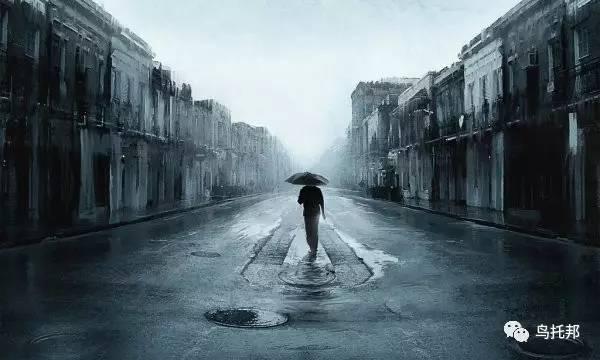 诗人孤独了,就会一个人打伞看雨