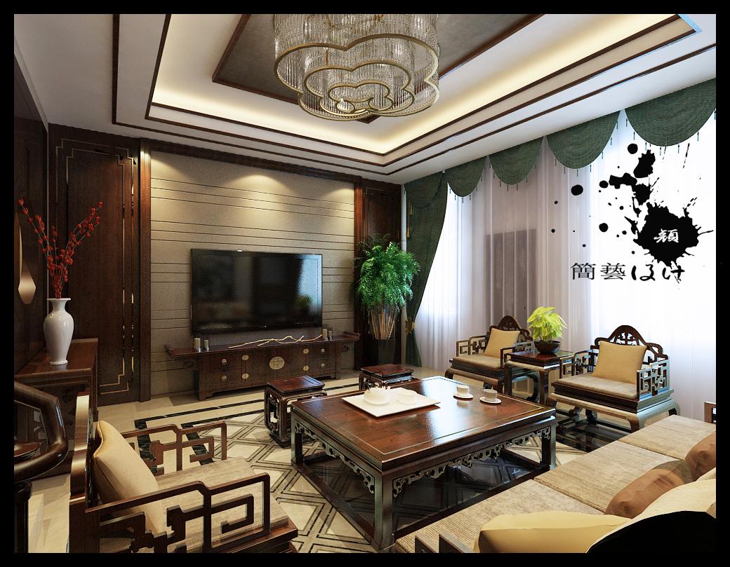 石家庄鑫界王府500平米新中式风格设计图片