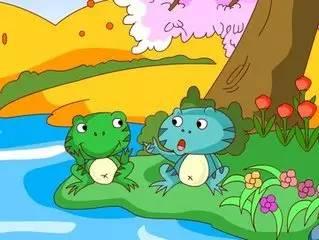 睡前故事《吹牛皮的青蛙和蛤蟆》