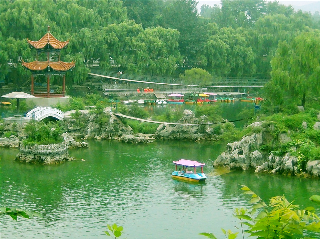 林州市万泉湖国家湿地公园避暑天堂旅游度假的好地方图片