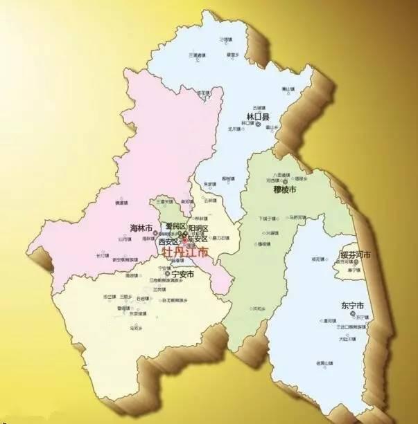 牡丹江市,因牡丹江纵贯市区而得名.
