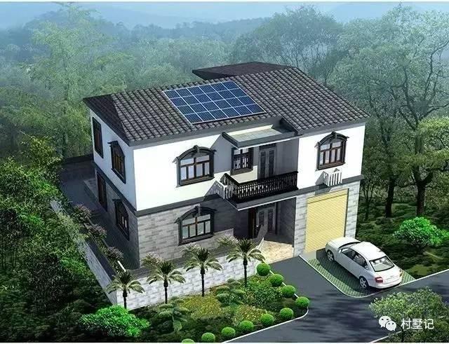 古香中式二层农村别墅,建成效果很好