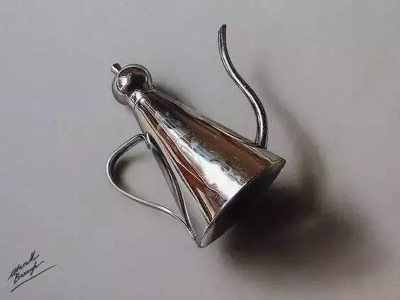 素描如何表现金属的质感,来,看这里