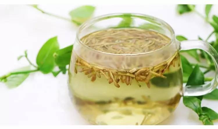 适量的蜂蜜 做法:用沸水将金银花和薄荷冲泡,盖住闷15分钟后,加蜂蜜即图片