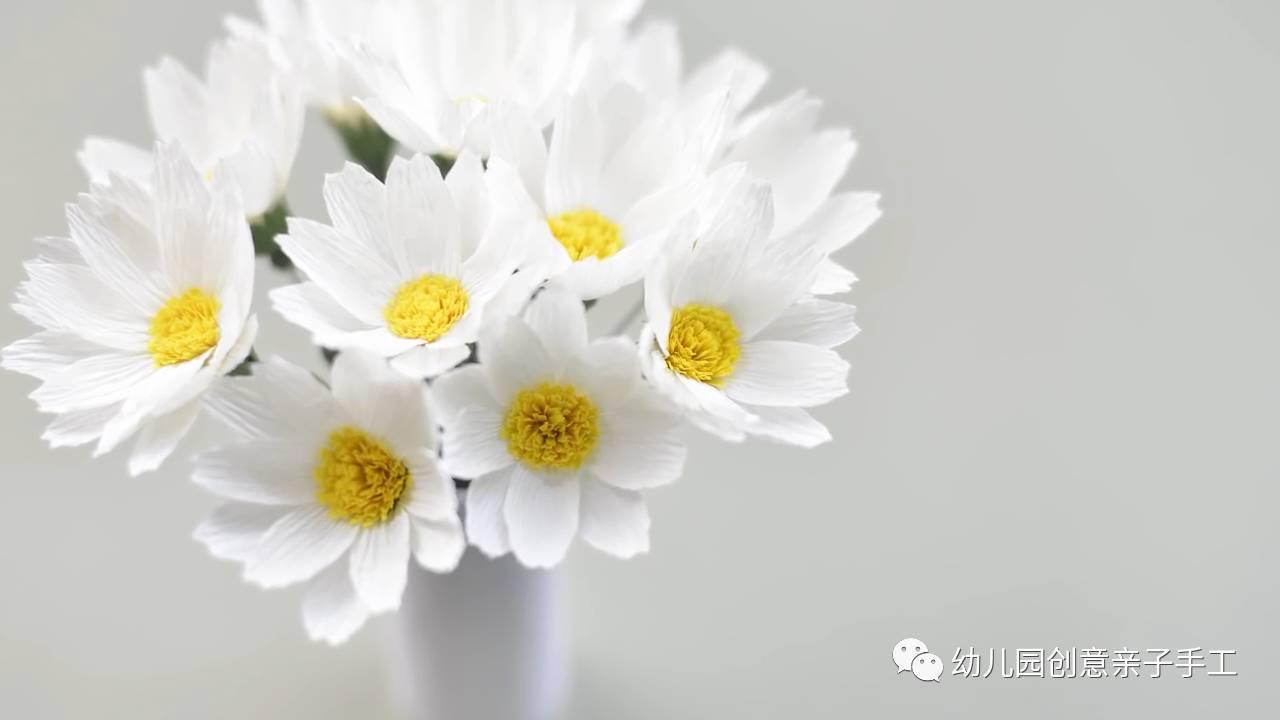 皱纹纸雏菊折花教程送给大家,逼真程度可以假乱真.图片