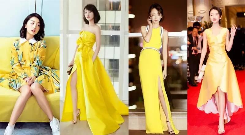 最黄色人体艺术_angelababy在生日派对上选择了梦幻的黄色蓬蓬礼服裙礼,简直就是真人