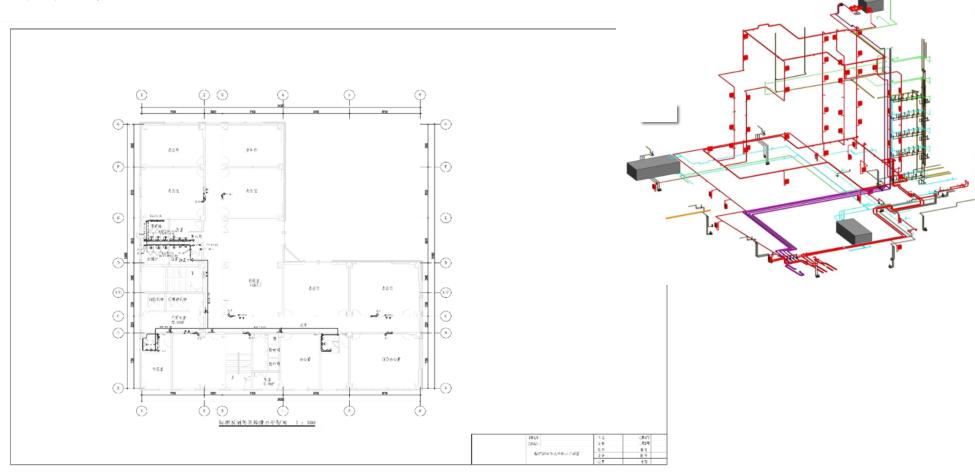 cad中模型里有一张平面图,包含地面,屋顶的做法,布局里却有好