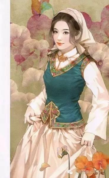 中国少数民族服饰手绘集合