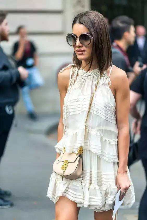 短发+连衣裙=气质极了!