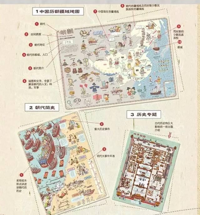 《手绘中国地理地图》立足当下,分省描述各地特色,包括行政边界、图片