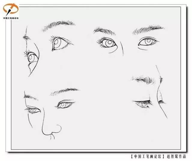 工笔人物的画法详细步骤图解 现代工笔人物肤色脸部眼睛嘴唇的染法