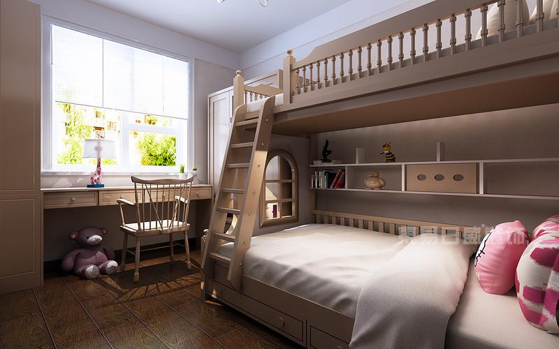 新中式风格两个宝宝的儿童房装修效果图图片