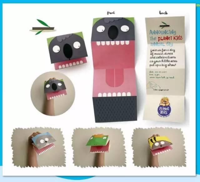 各种幼儿园怪兽手工制作教程图片