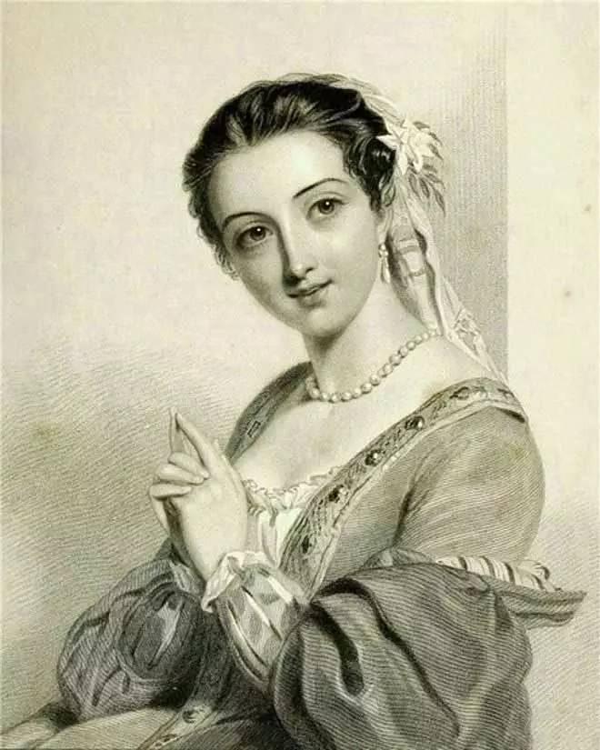 素描–法国古典公主