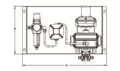 球阀面板的组成元件有:世伟洛克 316 不锈钢气动球阀,asco 铝制或图片