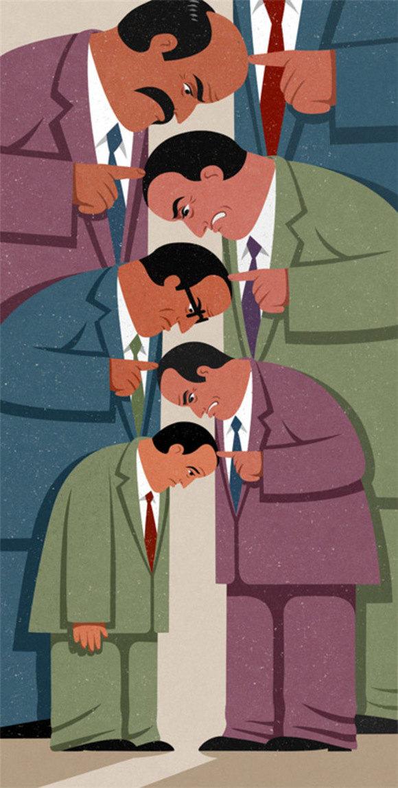 反映现代人类特征的44幅漫画