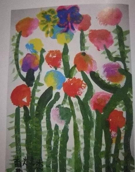 纸杯花   皱纹纸粘贴画   花儿朵朵(报纸借形)