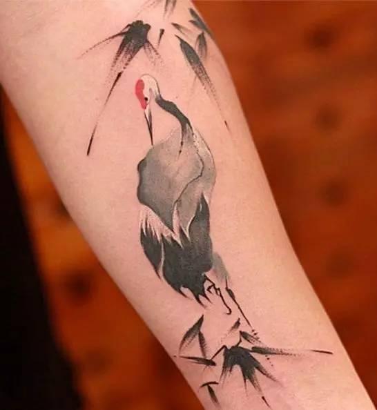 传统纹身——鹤
