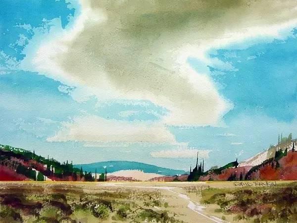 清冽宁静的风景水彩作品欣赏