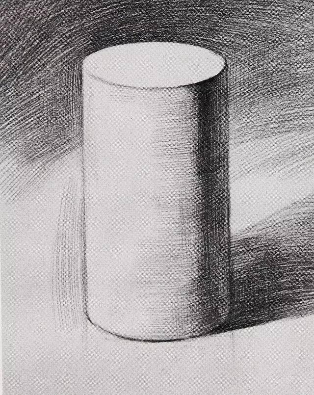 素描基础教程 几何体明暗圆柱体画法图片