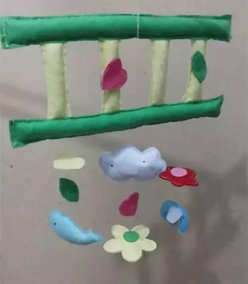 树叶手工制作云彩