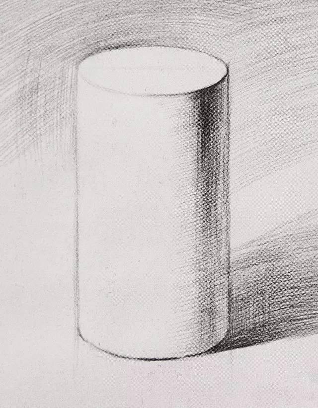 素描几何圆柱体斜切面那个椭圆怎么去确定那条长直径和短直径图片