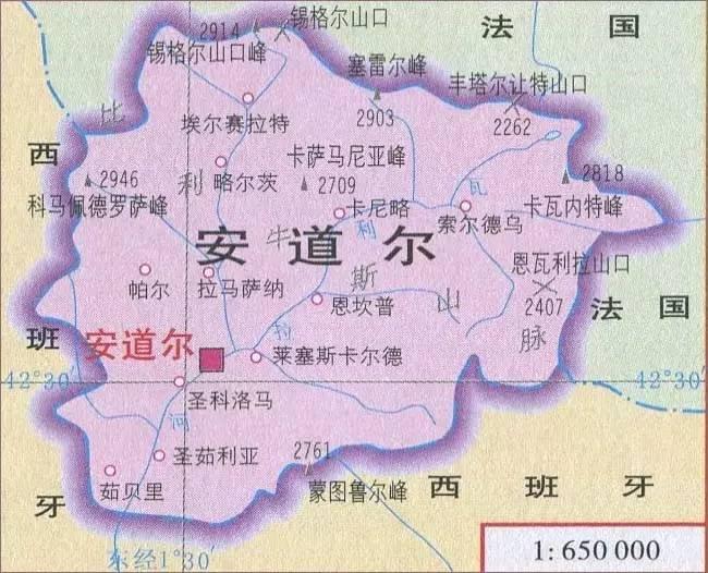 安道尔人口_安道尔旅游地图