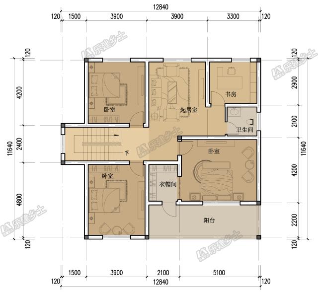 乡间小二层别墅设计,占地不到150平,经济又实用