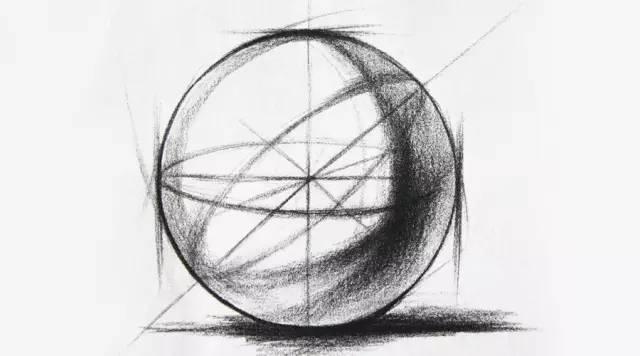 素描基础教程 几何结构 球体图片