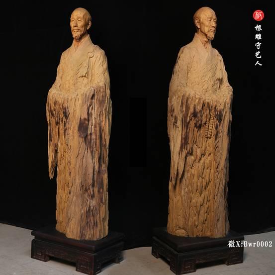 李叔同弘一法师肖像雕塑全身像