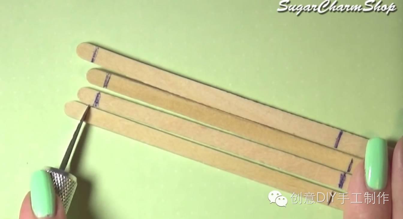 视频|冰棒棍做木屋手工制作教程