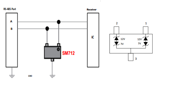 3、RS232接口-典型电池管理系统BMS的静电防护