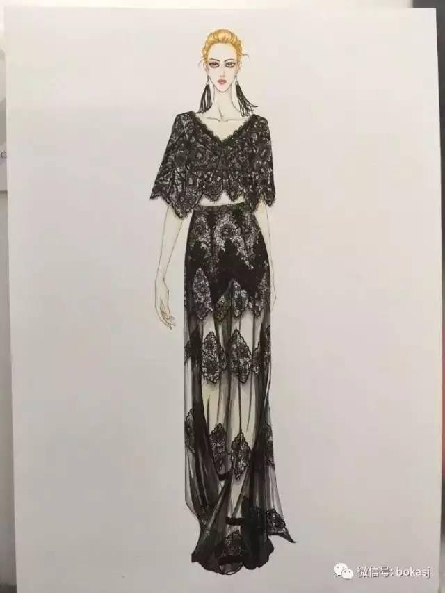 时装手绘 | 服装设计款式图分享:9款美美的手绘图,你