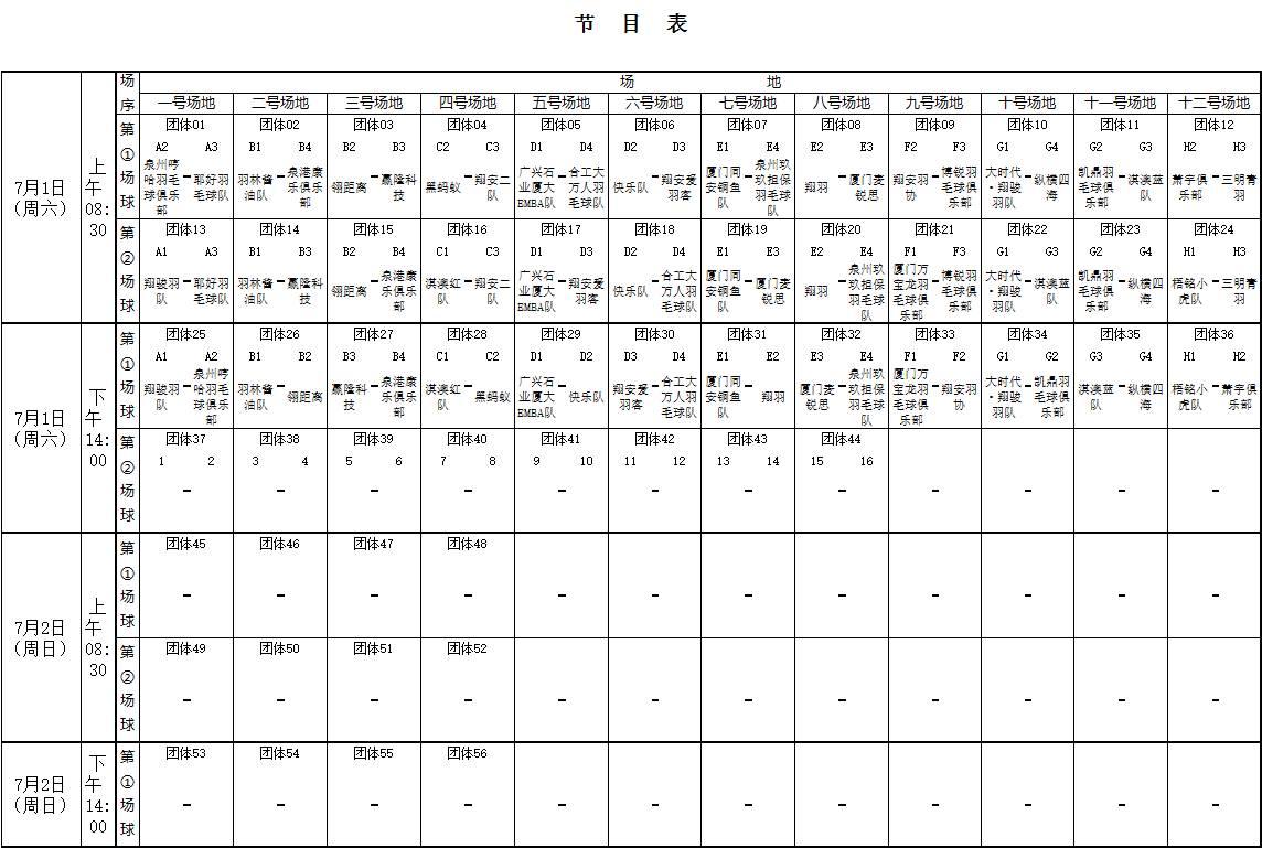翔骏羽威克多 杯2017年厦门业余羽毛球混合团体赛