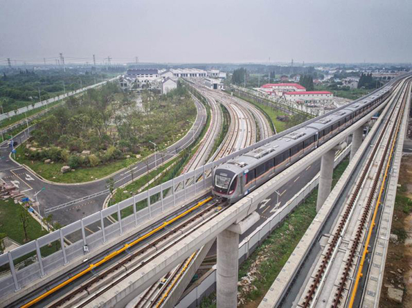 上海地铁17号线开始新车调试,市区往来青浦将更便捷 组图图片