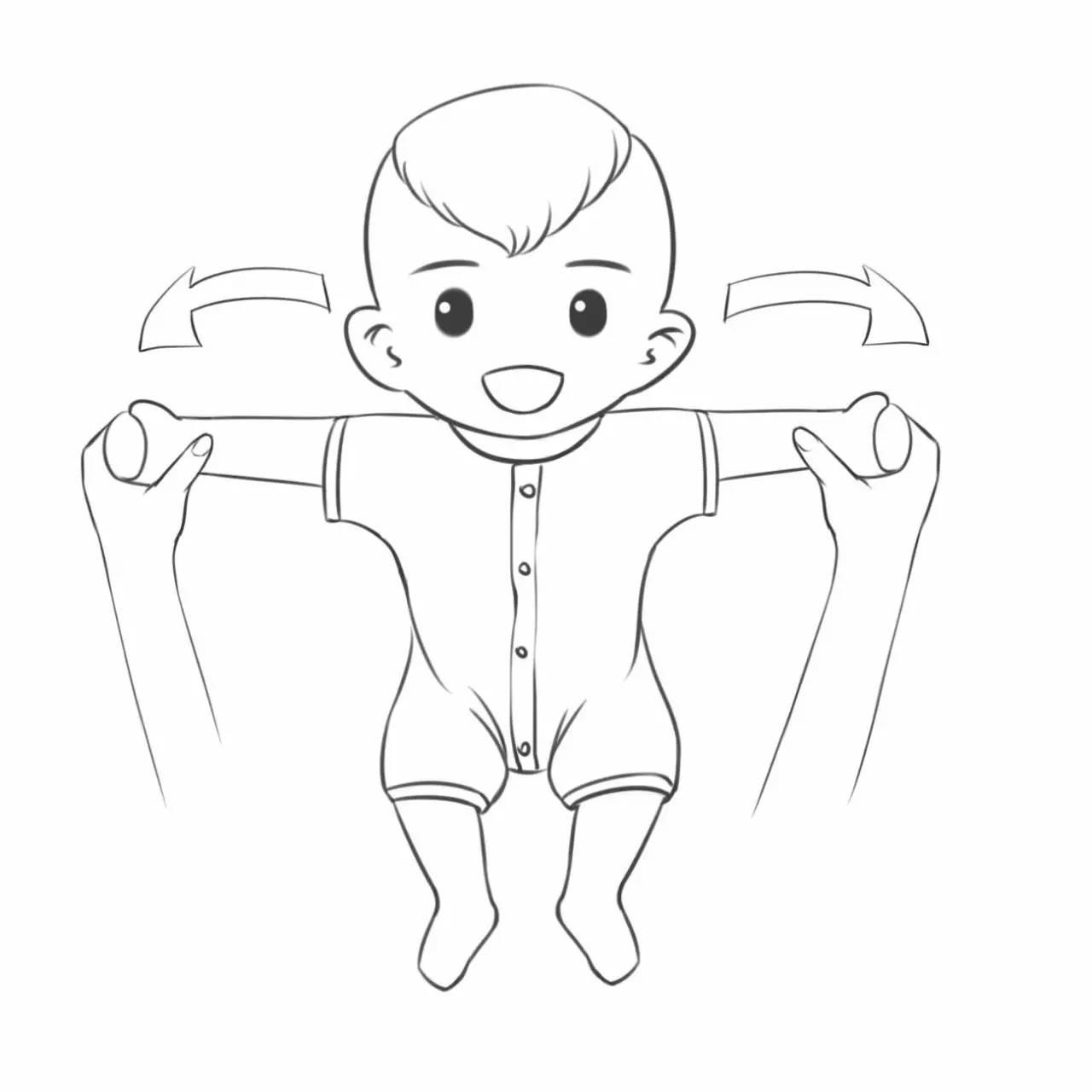 做操的过程中最好配有节奏舒缓的音乐,妈妈做操之前要和宝宝轻声说话.图片