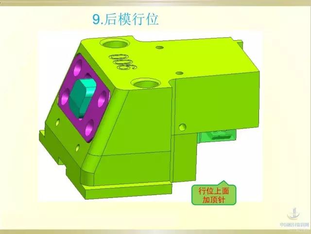 模具结构设计之行位内下顶针3d处理器至模具设计强图片