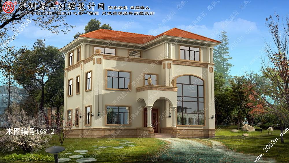 三层别墅外观效果图, 农村房屋设计效果图, 别墅设计图纸大全, 欧式