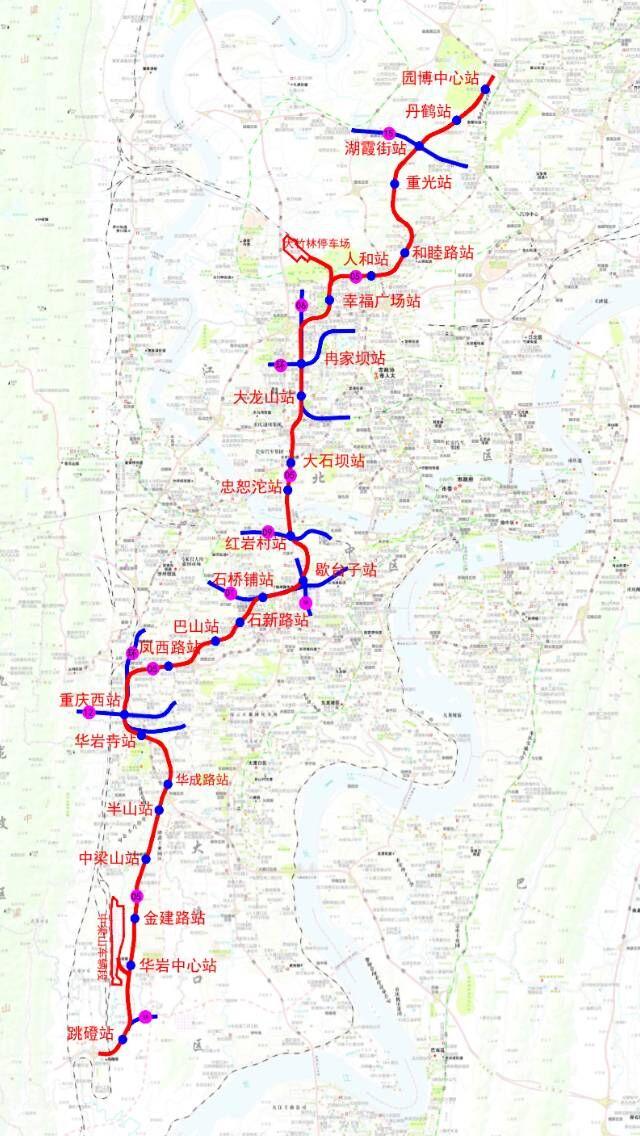 重庆又将开通两条轨道!五号线十号线年底通车(组图)图片