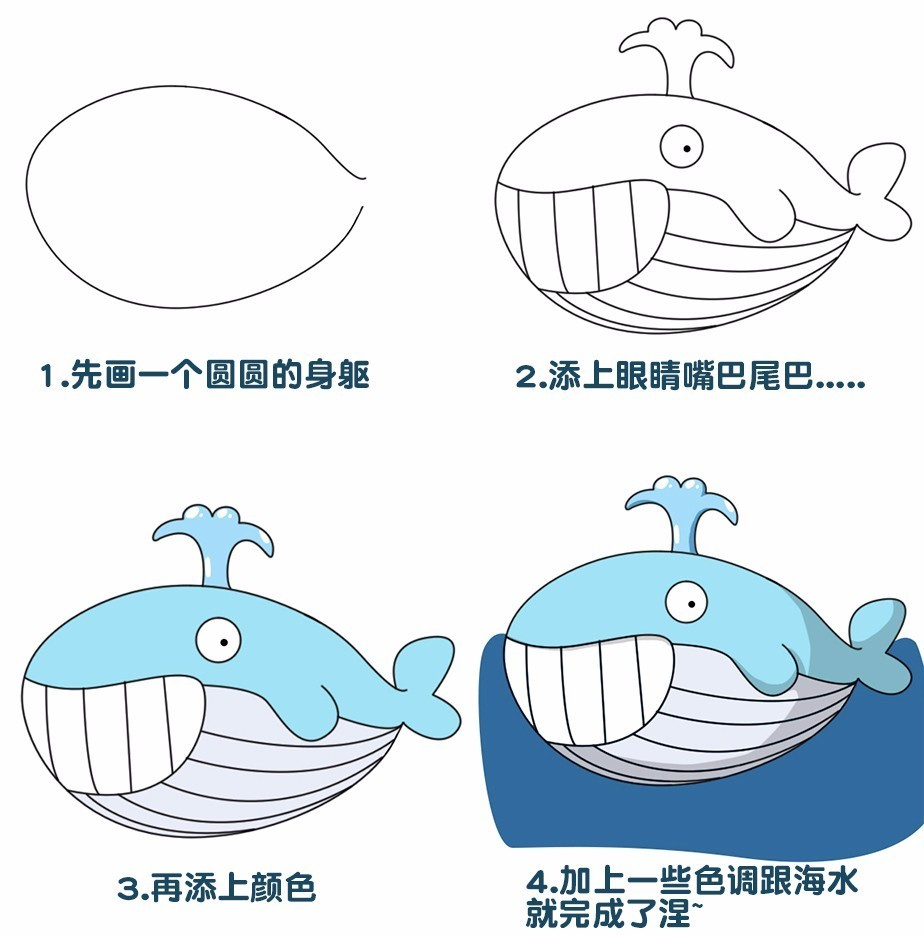 (鲸鱼简笔画)