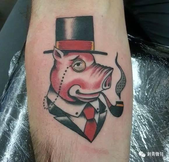 纹身图案~猪
