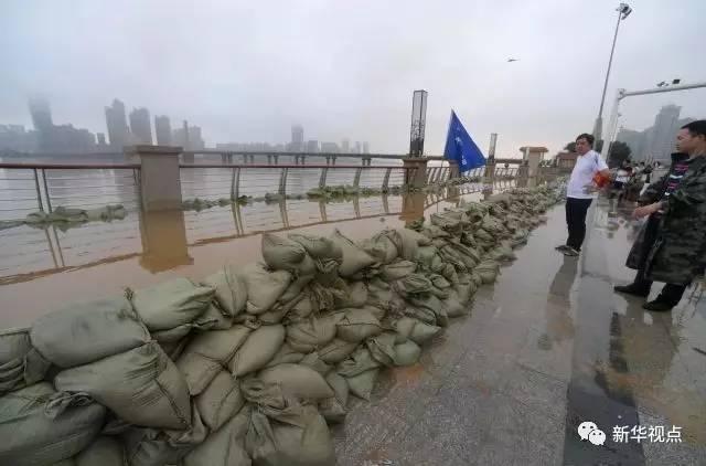 """告急!湘江長沙段水位破歷史記錄,湖南多地遭持續強降"""""""