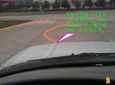 科目二曲线行驶详细图解 必须会看后视镜