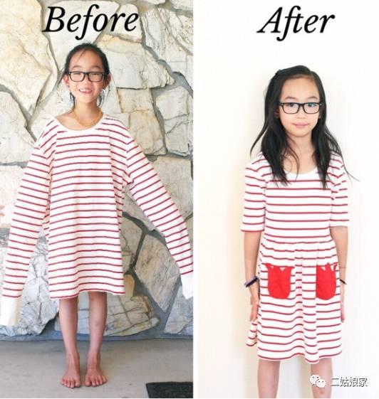"""羡慕他们每天都有""""新衣服""""穿 左图大概就是 小孩""""偷""""穿大人衣服最好的"""