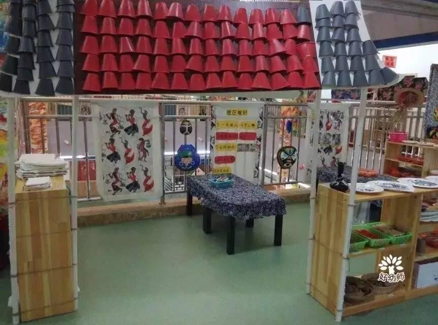 幼儿园区角环创与设计…… 民族艺坊 美工区活动环境对幼儿美工活动的图片