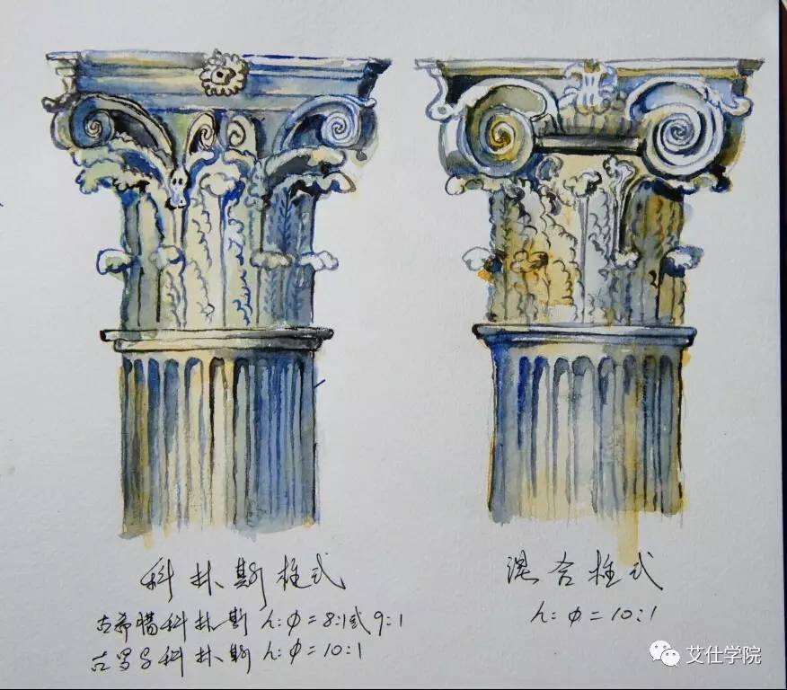 古希腊艺术之经典三大柱式║墙纸知识图片
